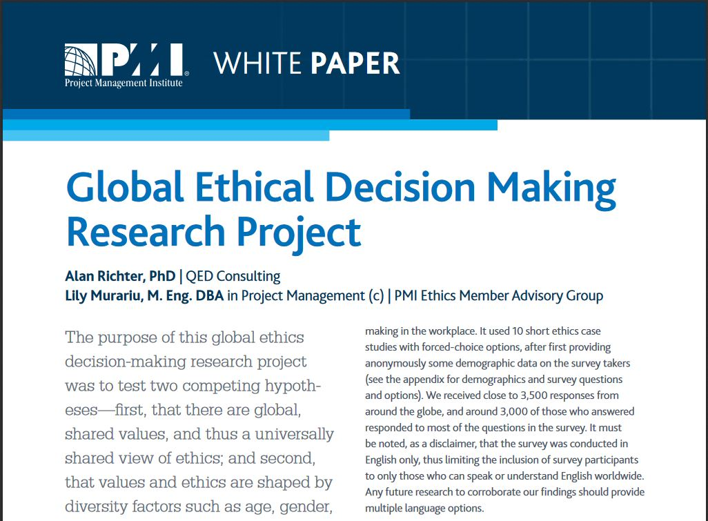 Global Ethical Decision Making Research Project